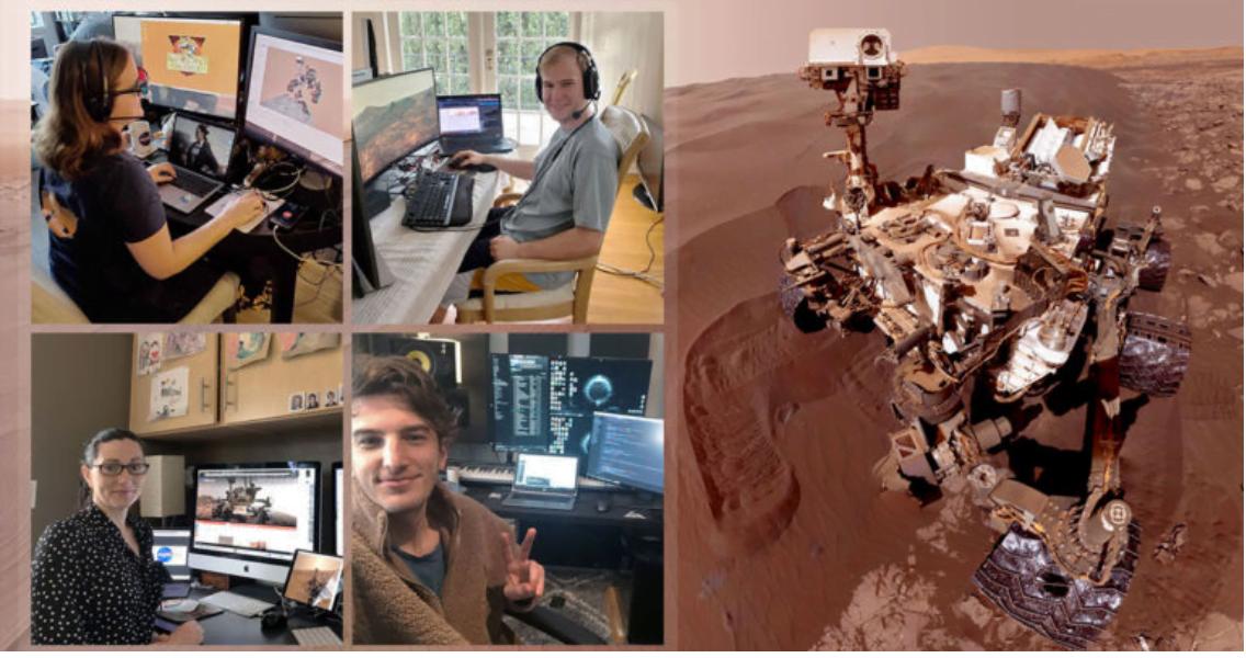 NASA çalışanları evde