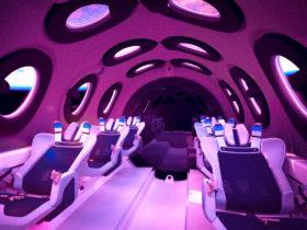 Virgin Galactic StarShipTwo kabin görüntüsü