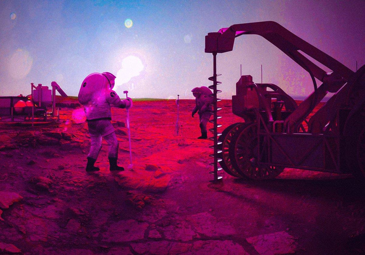 mars ve ay yeraltı yaşamı